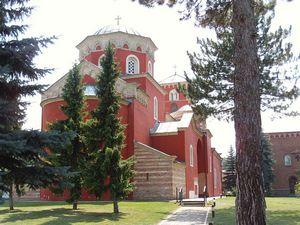 монастырь Жича, одно из мест где служил Николай Сербский