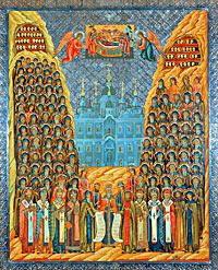 Икона Киево-Печерских святых