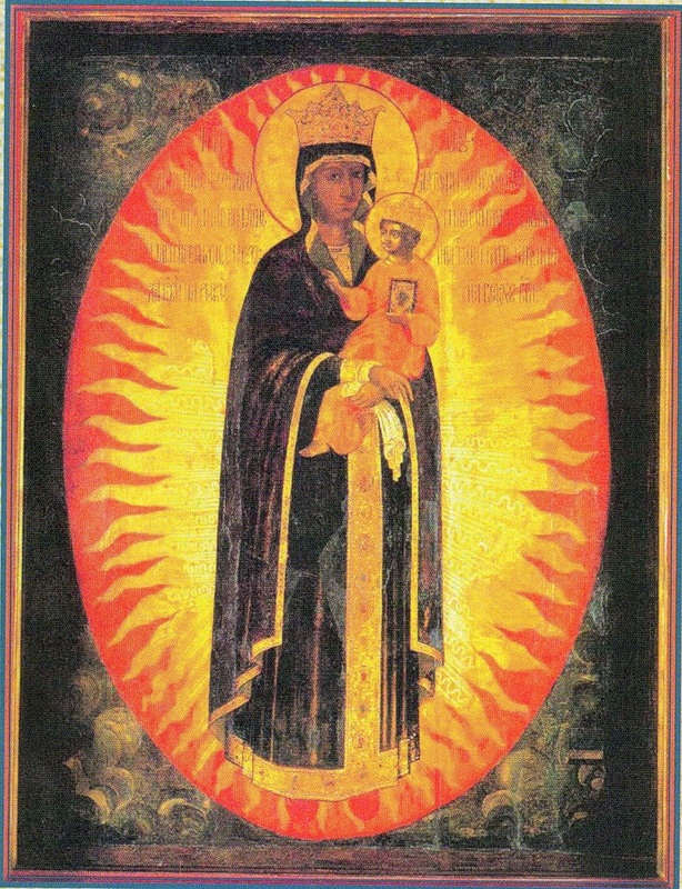 Икона Пресвятой Богородицы Благодатное небо, иконостас Архангельского собора Московского Кремля