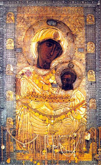 икона из Иверского монастыря, Афон