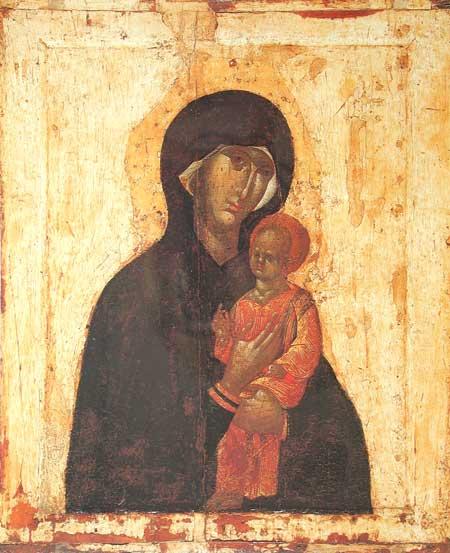 Одигитрия Пименовская, Государственная Третьяковская галерея, XII в