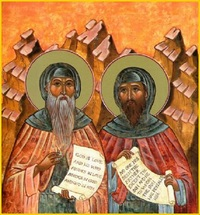 преподобные Варсануфий и Иоанн